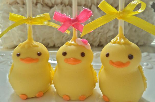Easter Chick Cake Pops