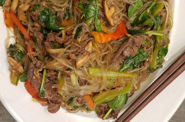 Bulgogi Beef with Sweet Potato Noodles and Vegetables (Gluten Free Recipe)