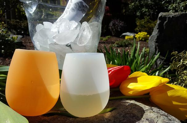 Colorful Silicone Wine Glasses from Bendiware