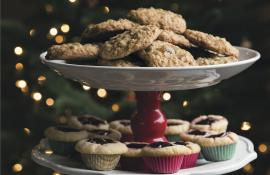 Spiced Oatmeal Cookies with Dried Cherries and Almonds